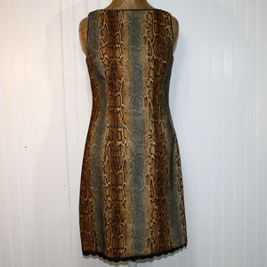 CDC Python Snake Animal Print Cocktail Dress